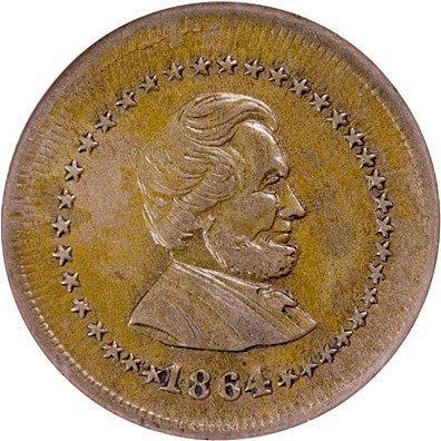 1175: 1864 LINCOLN AND UNION Civil War Token - 2