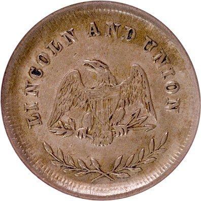 1175: 1864 LINCOLN AND UNION Civil War Token - 3
