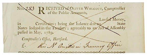 4007: Oliver Wolcott Jr. Document