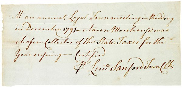 4009: Massachusetts Tax Collector Appointed for 1792