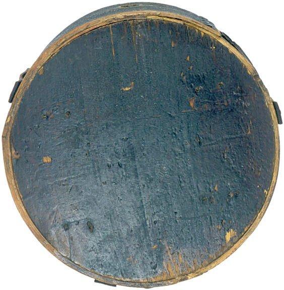 4017: Wooden Cheese Box Canteen from War, c. 1812