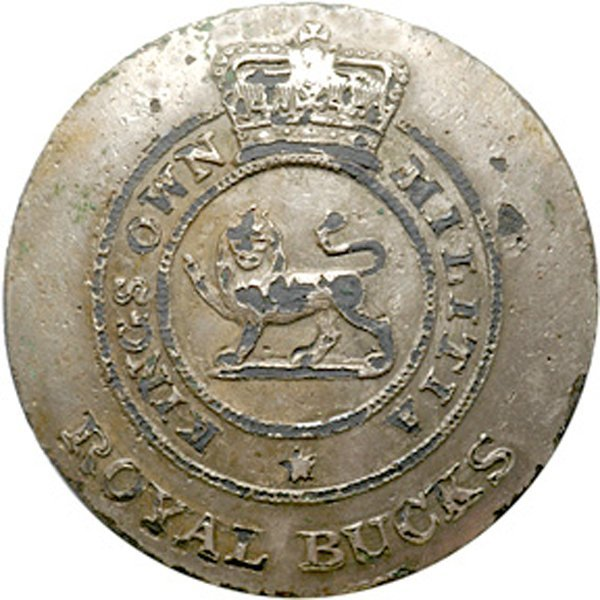 4019: War of 1812 Kings Own Militia Officers Button