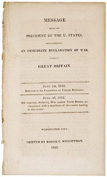 4021: Madison Proposes War to Congress, 1812