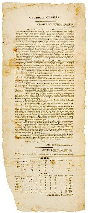 4022: GENERAL ORDERS, Massachusetts Militia, 1814