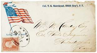 4062: Civil War Regimental Cover: Circular Star Flag