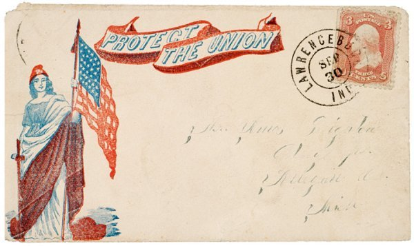 4065: Civil War Flags On Two Postally Used Covers