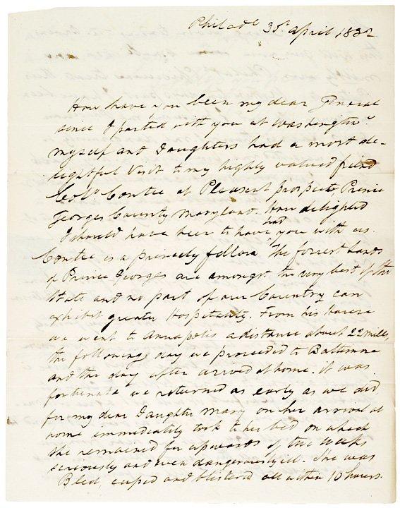 5003: Autograph Letter Signed, WILLIAM BAINBRIDGE, 1832
