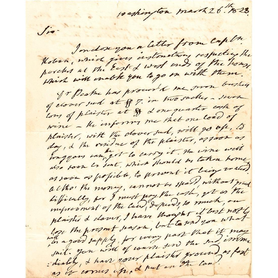 1823 JAMES MONROE Autograph Letter Signed as President