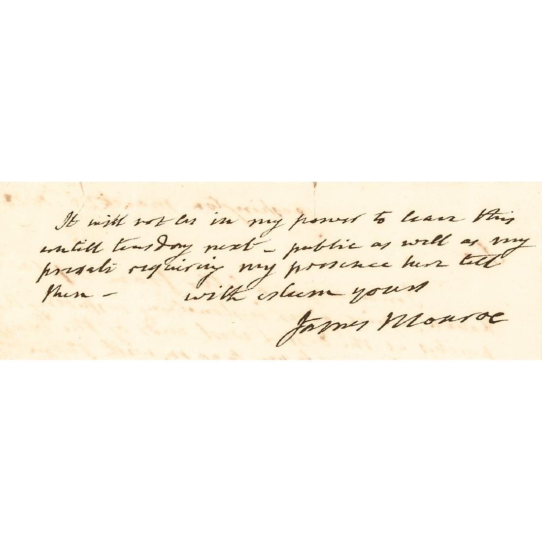 1823 JAMES MONROE Autograph Letter Signed as President - 2