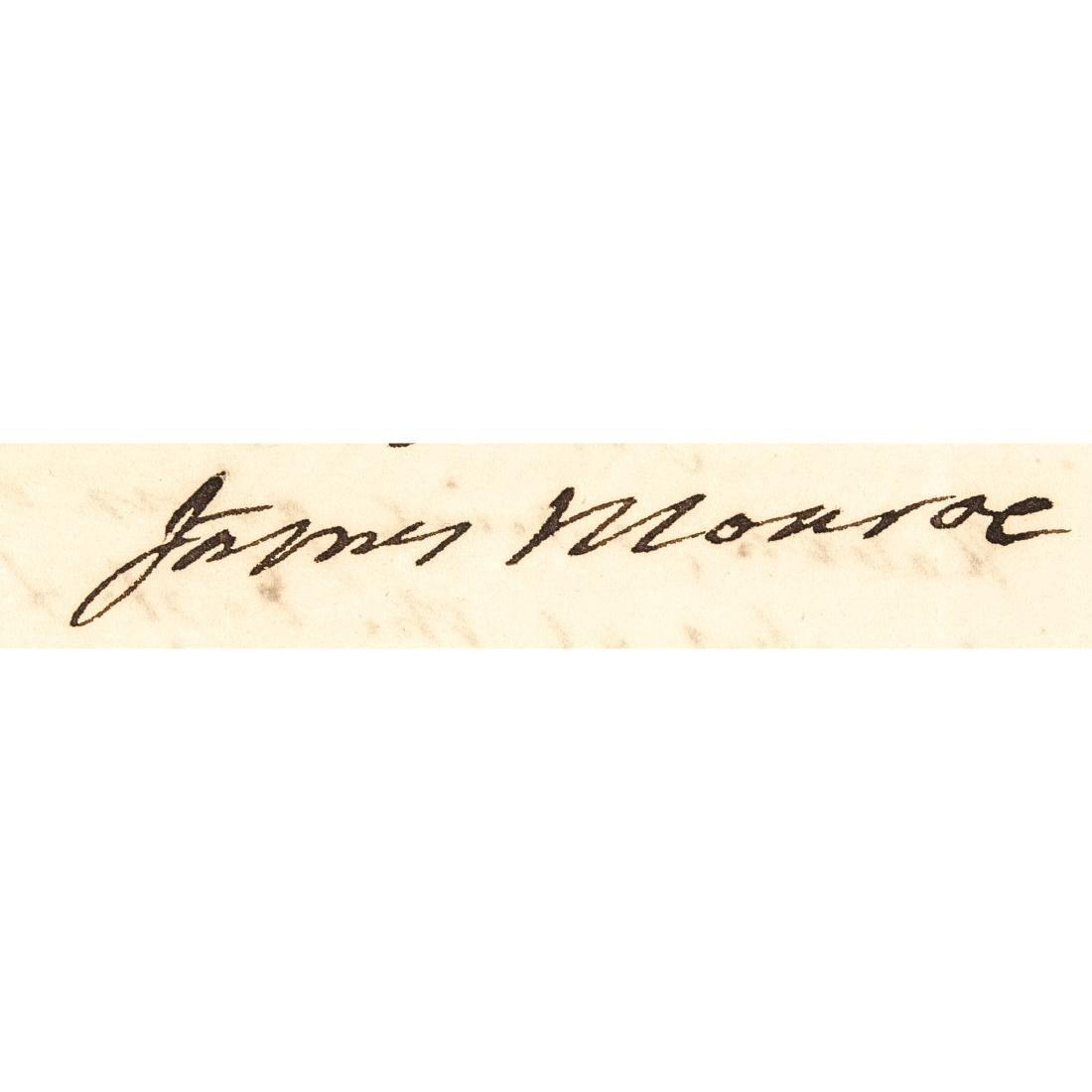 1823 JAMES MONROE Autograph Letter Signed as President - 3