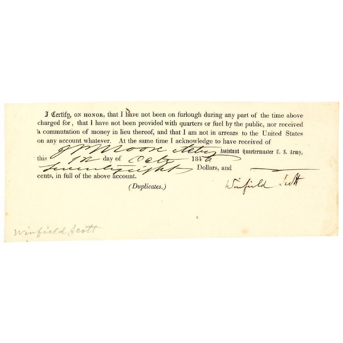 1846 General WINFIELD SCOTT Document Signed