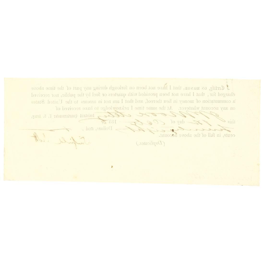 1846 General WINFIELD SCOTT Document Signed - 2