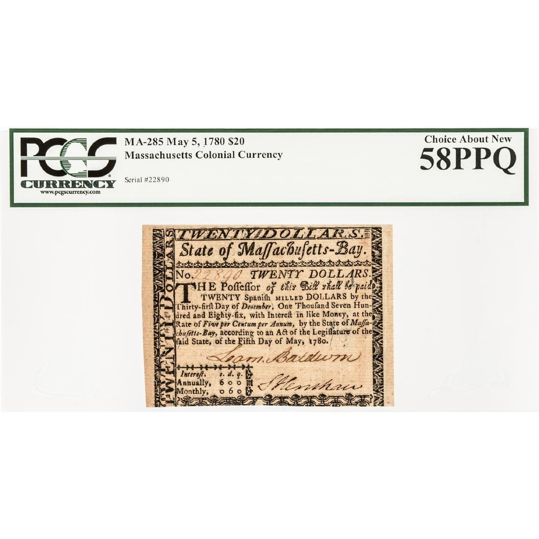 Colonial Currency COLONEL LOAMMI BALDWIN Signed - 3