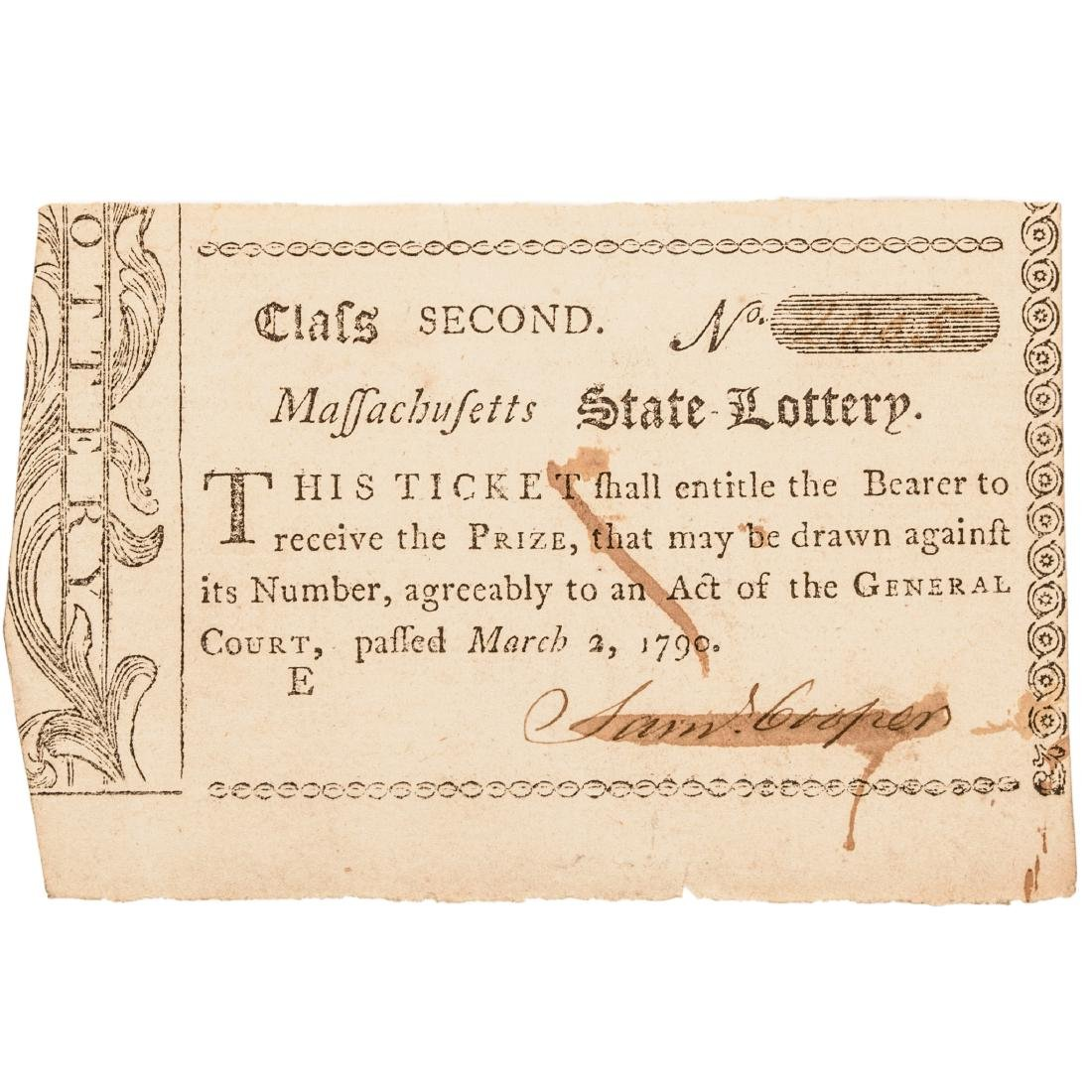 1779-90 Charlestown Lottery + MA Lottery Tickets - 2