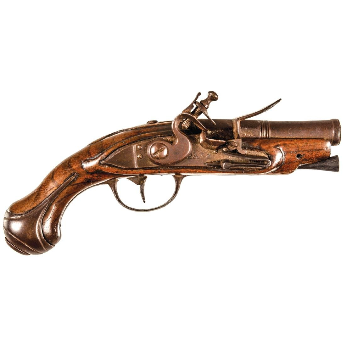 c 1760-80 LE PAGE French Pocket Flintlock Pistol