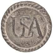 c. 1777 Rare Rev War Continental Army USA Button