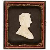 c 1865 Rare Abraham Lincoln Mourning Plaster