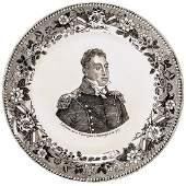 c 1824 Rare General Lafayette Portrait Plate