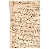 MATTHEW GRISWOLD Manuscript Document Signed