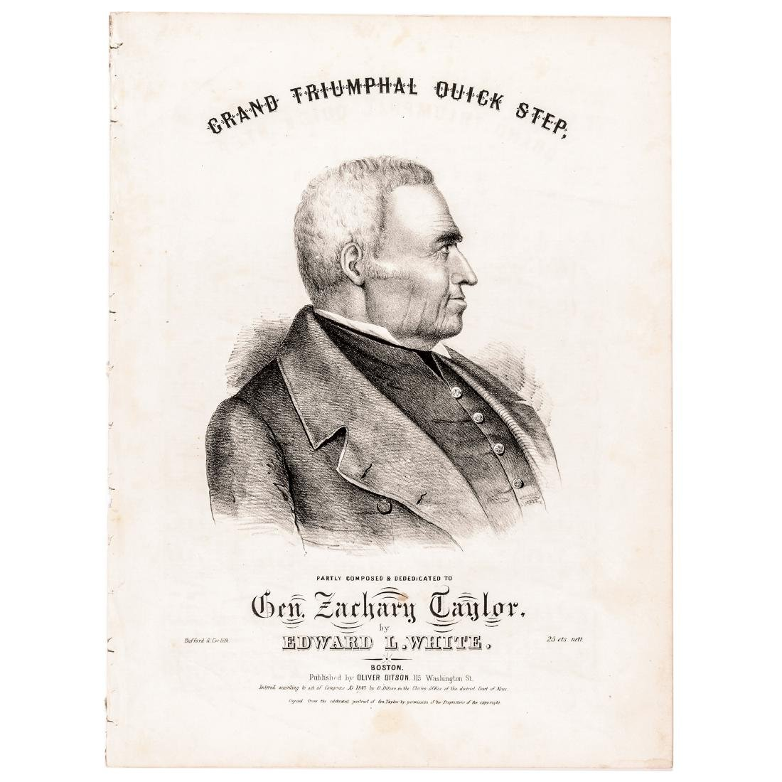 1847 Sheet Music Gen. Zachary Taylor, Triumphal