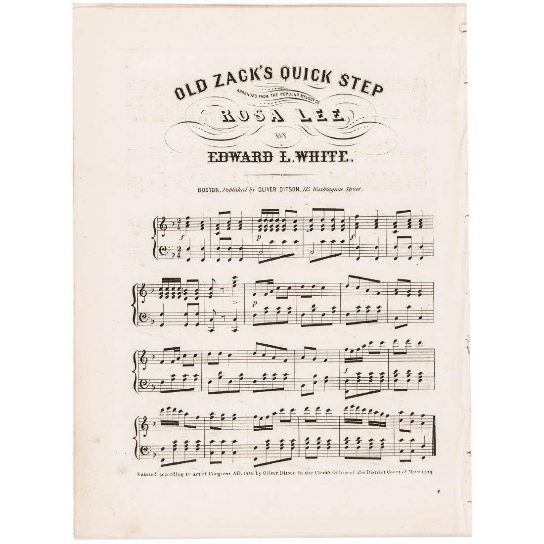1847 Sheet Music Gen. Zachary Taylor, Triumphal - 3