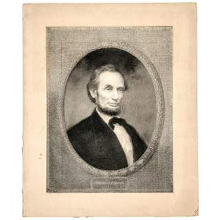 1866 + 1877 Pair of Engravings of Abraham Lincoln