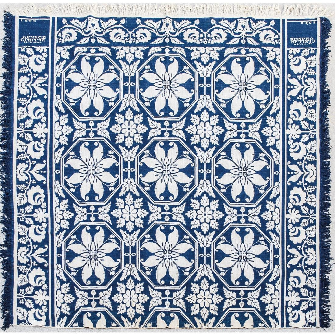 1840-Date American Two-Color Beiderwand Coverlet