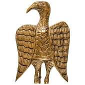 c 1900s Hand-Carved Folk Art Wood American Eagle