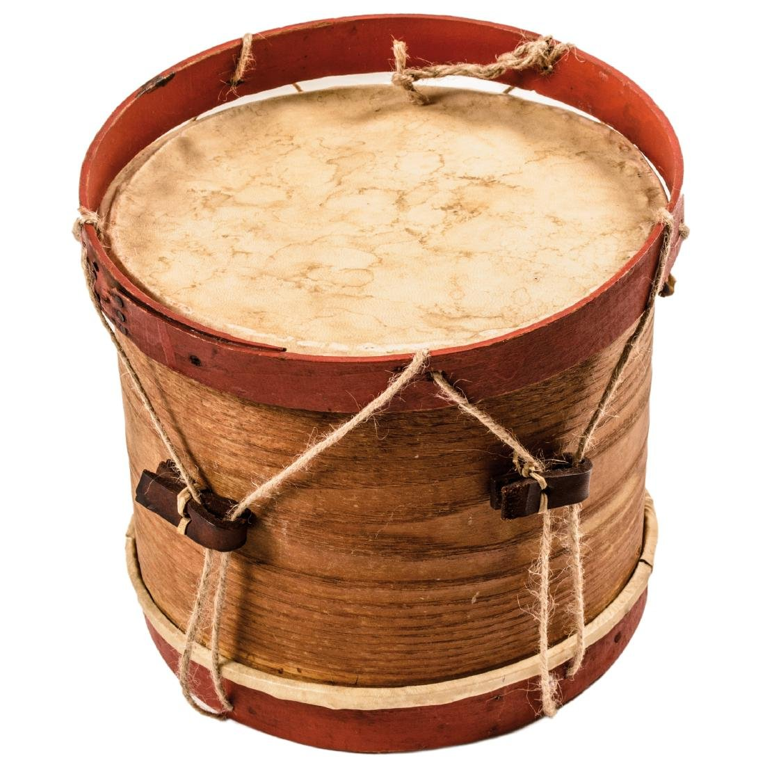 Civil War Era Child's Drum with Wooden Drumsticks - 3