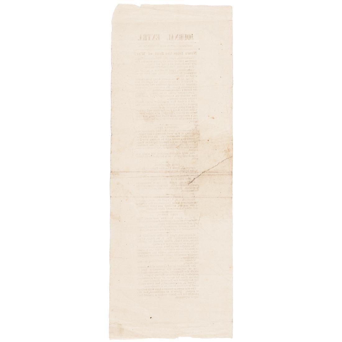 1861 Civil War Journal Extra Handbill Insert - 2