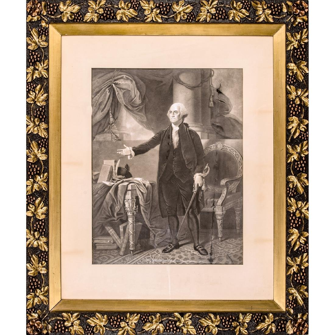 GENERAL WASHINGTON Lansdowne Portrait Engraving