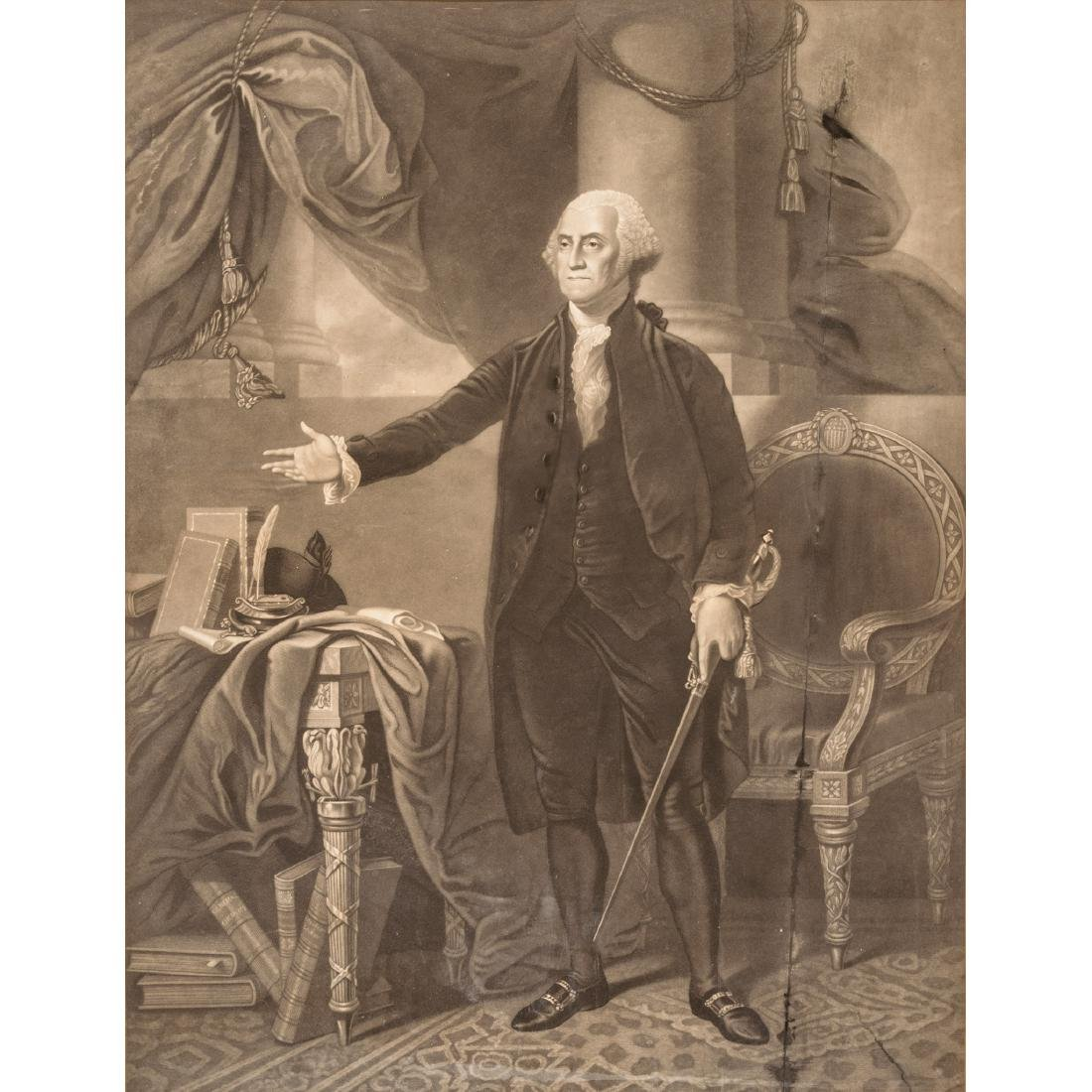 GENERAL WASHINGTON Lansdowne Portrait Engraving - 2