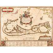 (1635) Blaeu Map: Mappa Aestivarvm Insularum,...