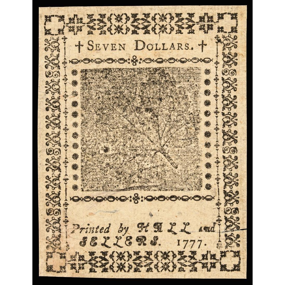 Continental, Feb. 1777 $7 Baltimore Note Ch. CU - 2