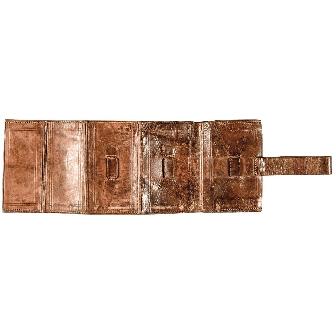 Civil War Era Soldier's Folding Leather Wallet - 3