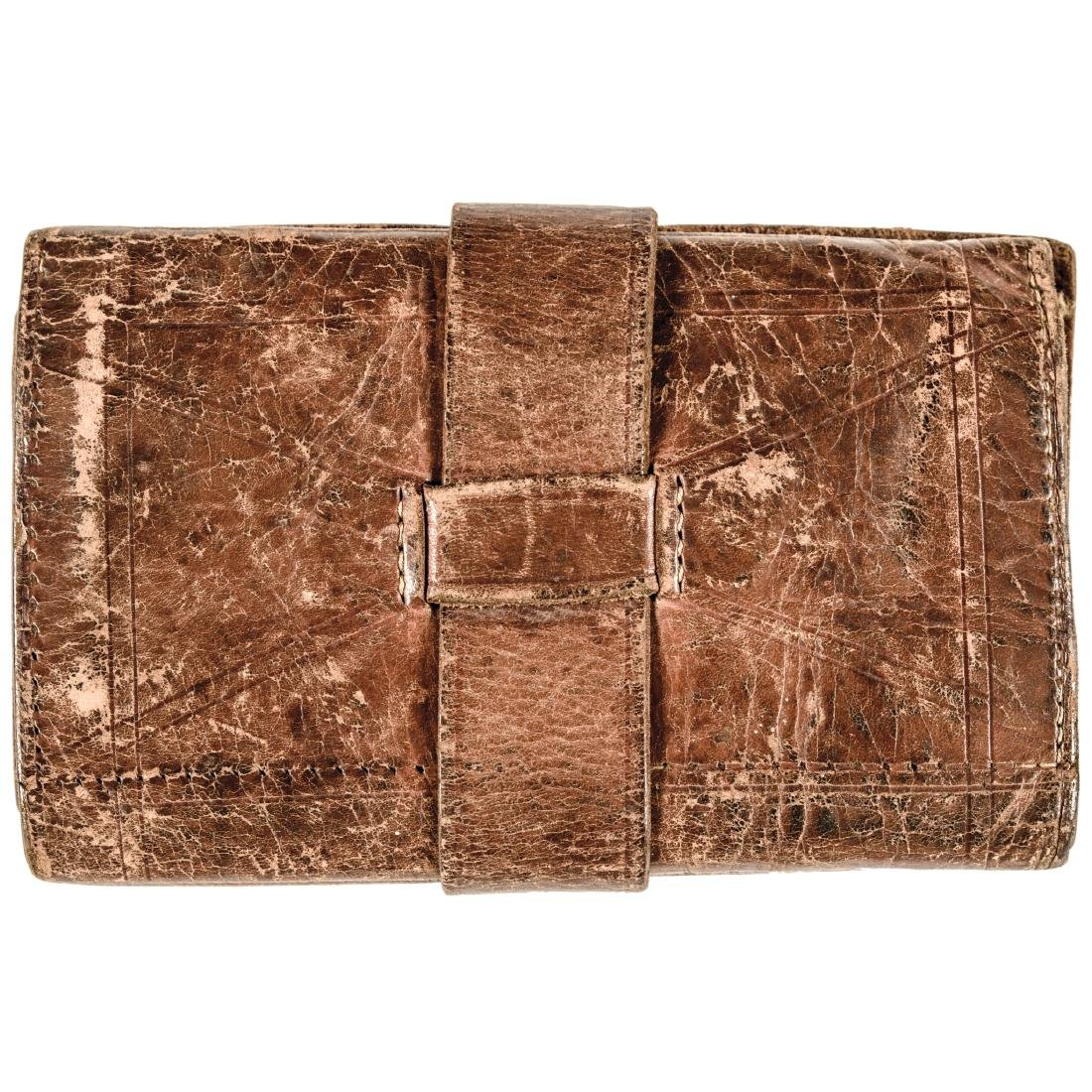 Civil War Era Soldier's Folding Leather Wallet - 4