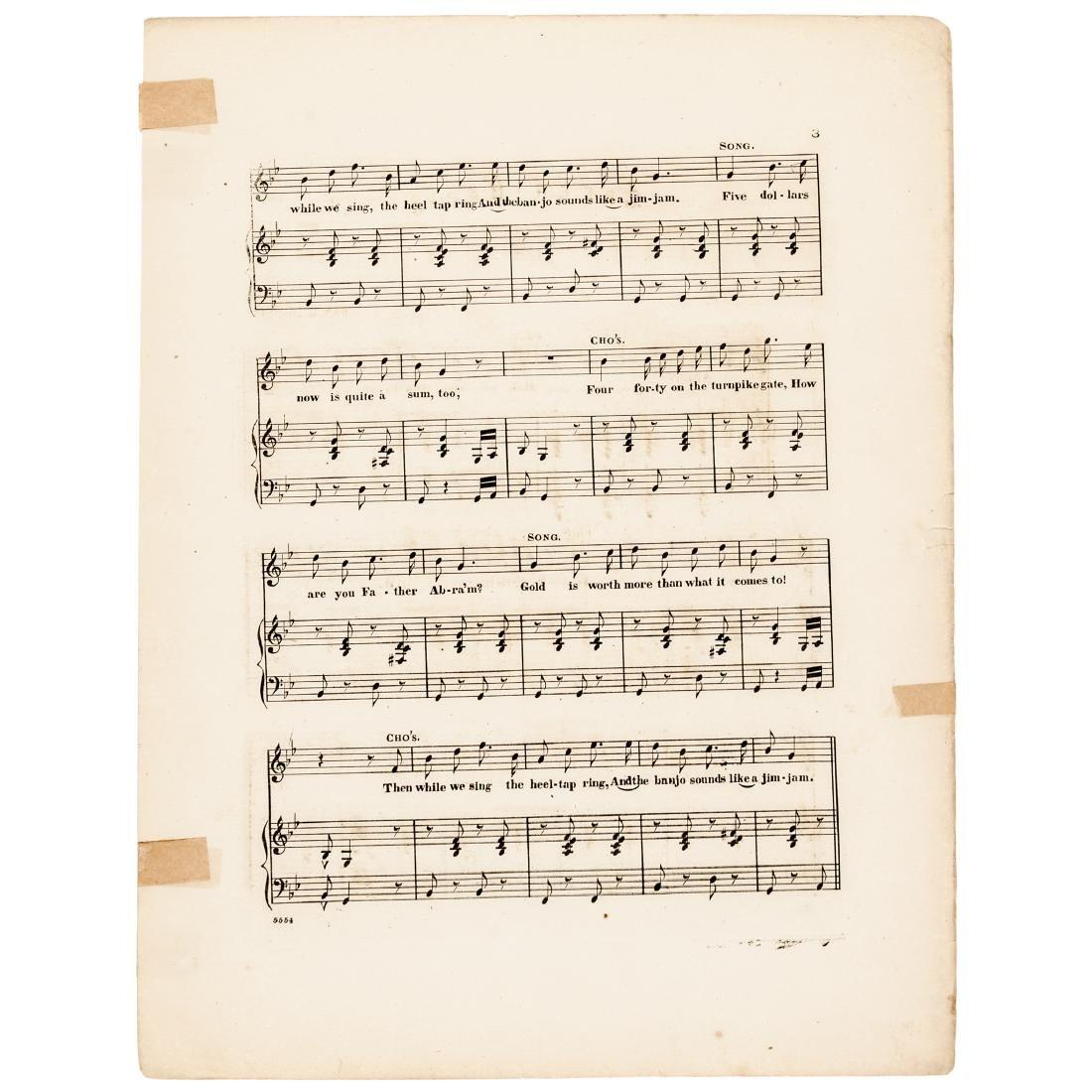 1863 Civil War Printed GREENBACKS! Sheet Music - 3