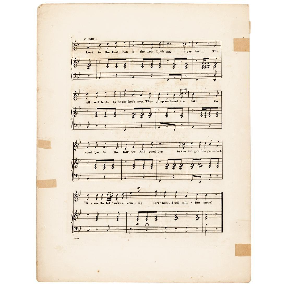 1863 Civil War Printed GREENBACKS! Sheet Music - 4
