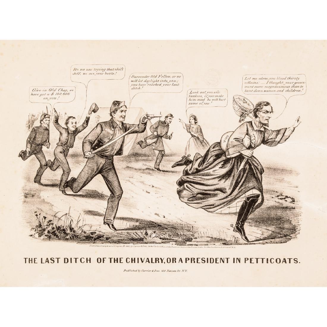 1865 Civil War Currier + Ives Political Cartoon