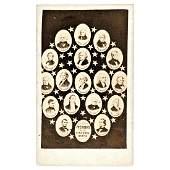 1865-69 CDV Collage 17 United States Presidents