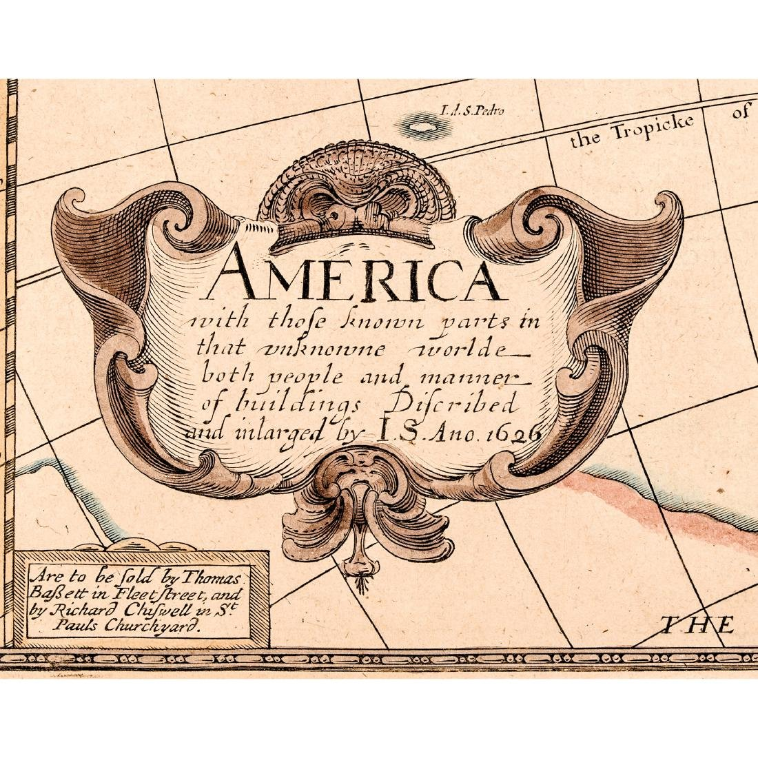 1626-Dated JOHN SPEED Map of America CA an Island - 3