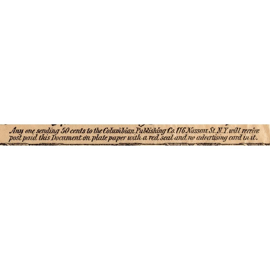 DECLARATION OF INDEPENDENCE 1876 Advt. Broadside - 5
