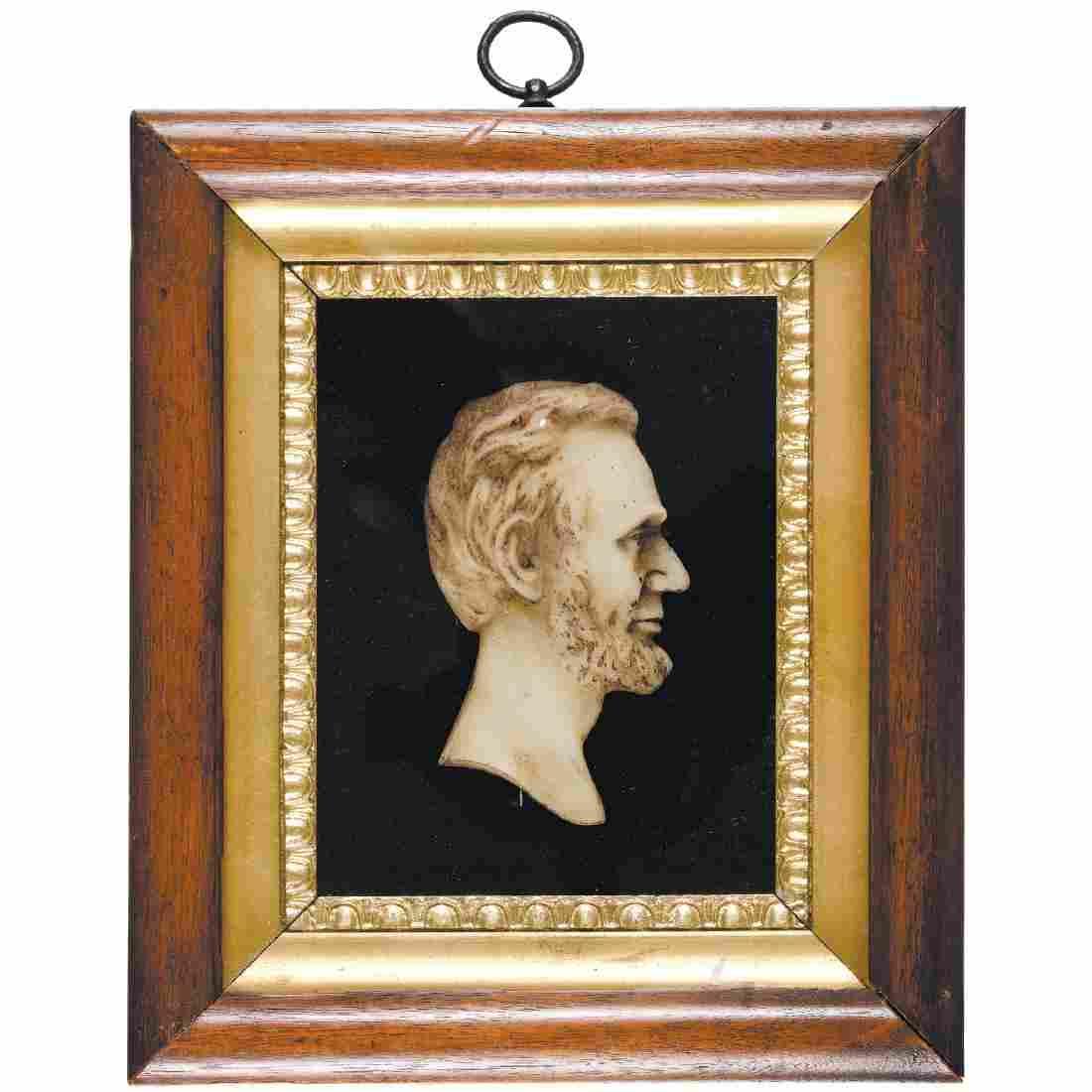 1860s Civil War Era Abraham Lincoln Wax Profile