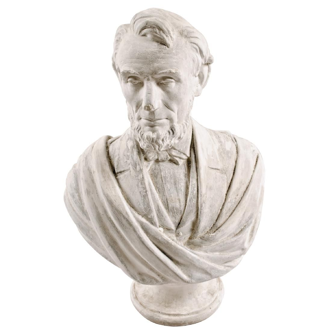 1865 Bust of Abraham Lincoln Pedestal by Morgan