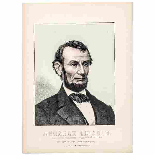 Abraham Lincoln 16th President Color Lithograph