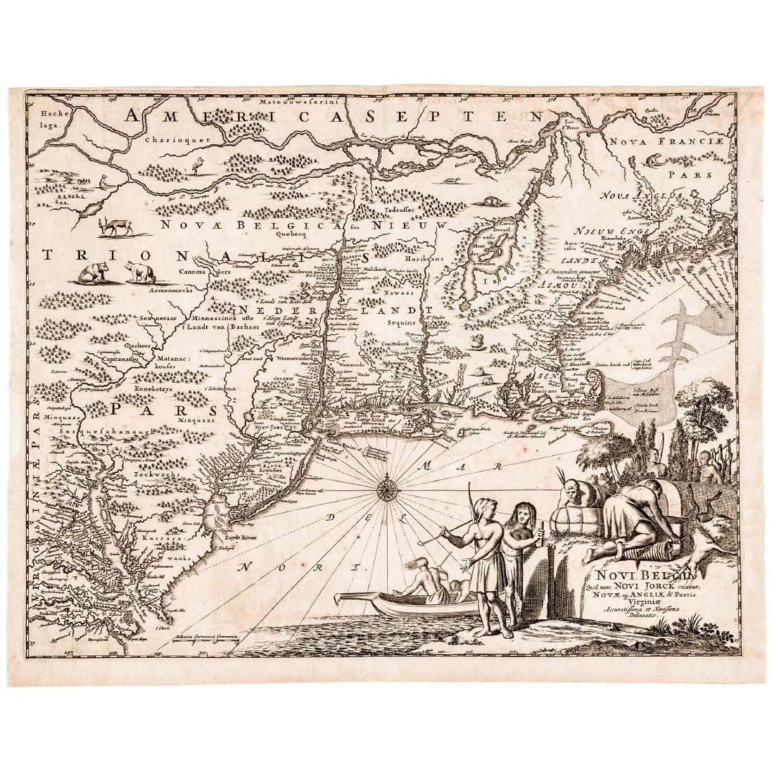 c 1670 North America Map: NOVI BELGII, QUOD NUNC NOVI