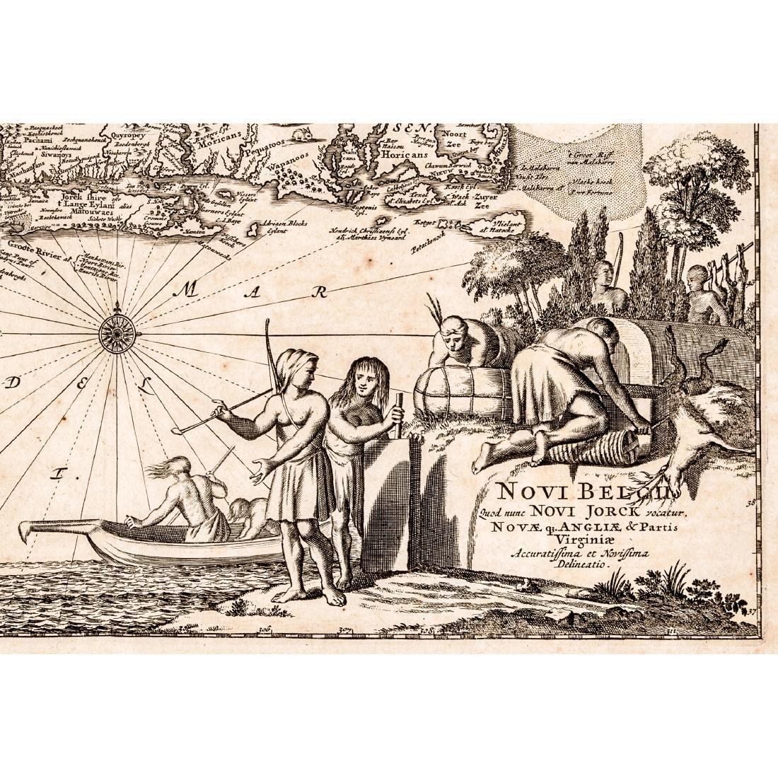 c 1670 North America Map: NOVI BELGII, QUOD NUNC NOVI - 3