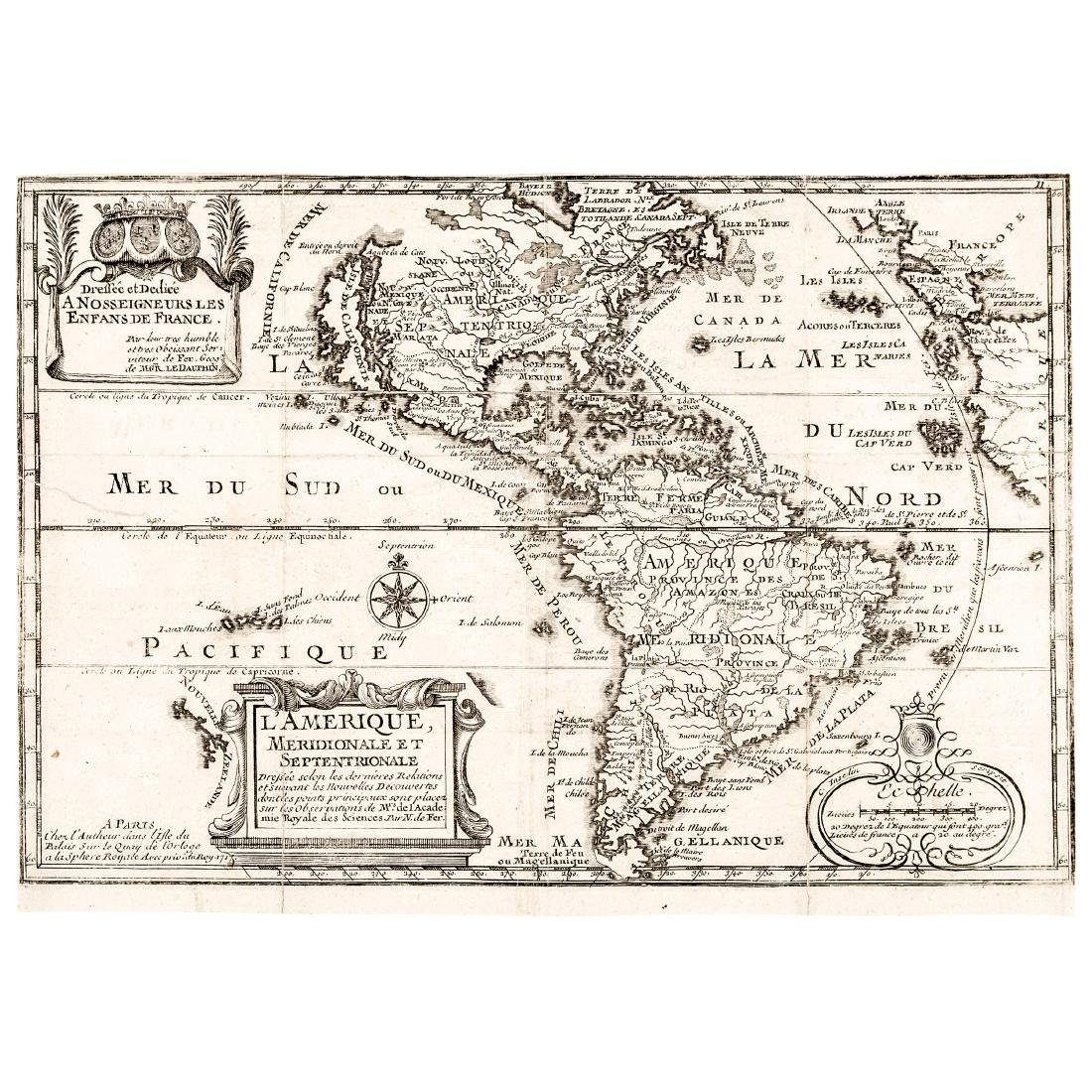 c. 1717 Americas Map as Discovered by Columbus