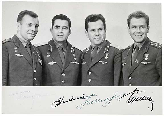 2021: Four Cosmonauts Signed Photo