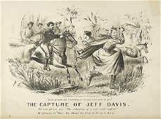 2375 Lithograph 1865 The Capture of Jeff Davis